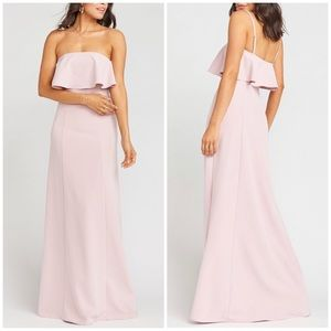Show Me Your Mumu •Monaco Ruffle Gown Vintage Rose